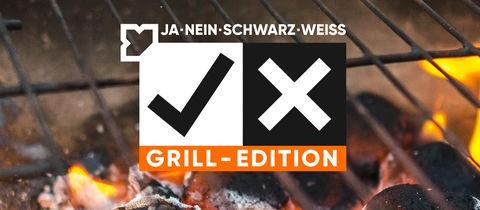 Ja Nein Schwarz Weiß Grill Edition