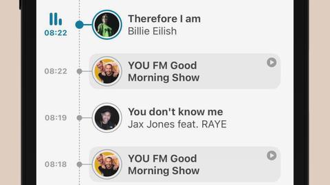Timeline in der neuen YOU FM-App