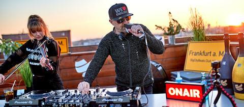 DJ bei der BigCityBeats Roof Session