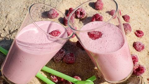 Cocktails Sommer-Trendfoods:  Eiscocktail Creme Framboise