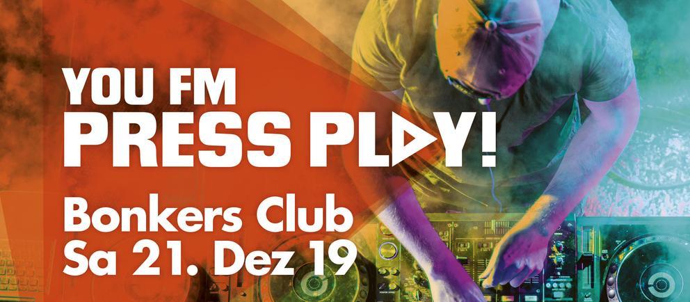 Grafik YOU FM Press Play! im Bonkers