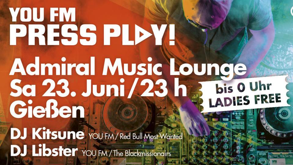 YOU FM Press Play! Giessen Juni 18