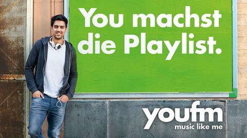 YOU FM Plakat: Music like me - Motiv Grün: Playlist