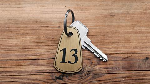Freitag der 13 Zimmer Schlüssel