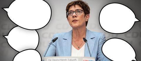 Annegret Kramp-Karrenbauer  Meinungsfreiheit