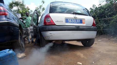 Autoabgase Afrika