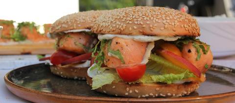 Breakfast BBQ: Lachs-Bagel
