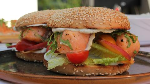 Breakfast BBQ: Lachs-Bagel