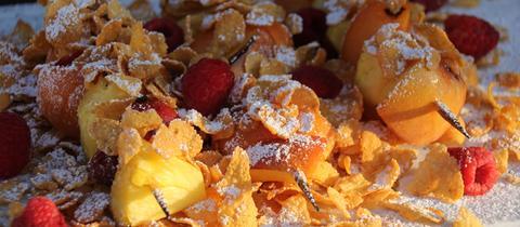 Breakfast BBQ: Früchtespieß