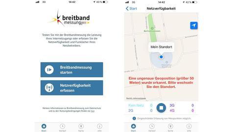App Breitbandmessung