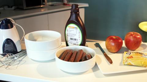 Freddies Freitags Fresserei: Apfel-Sahne-Twix-Salat