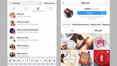 Rabattcodes über Instagram