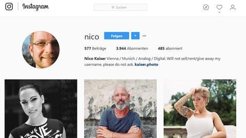 Screenshot von Nicos Instagram Account