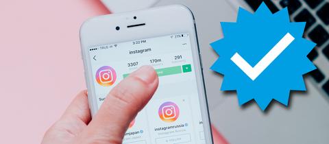 Ein Instagram-Account auf einem Smartphone.
