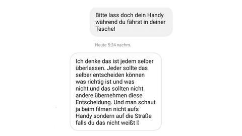 Kim Instagram Chat Kopf hoch