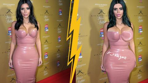 Kim Kardashian Photoshop nebeneinander