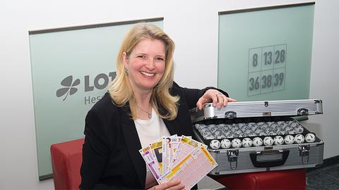 Die Glücksbotin von Lotto-Hessen