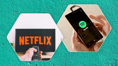 Streaming Netflix Spotify
