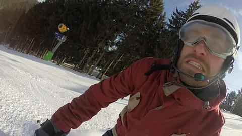 Selbstversuch Blind Skifahren