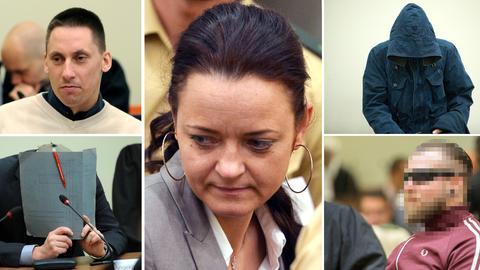 NSU-Prozess: die Angeklagten