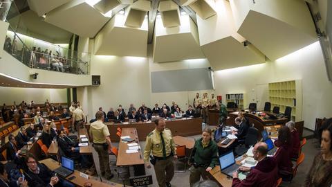 NSU-Prozess: Gerichtssaal