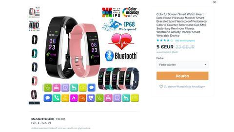 Online-Händler China: Smartwatch