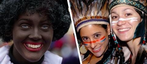 Kostümierte Mädchen anlässlich der jährlichen Halloween-Parade in New York -