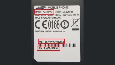 Modell-Nummer eines Samsung Smart-TVs