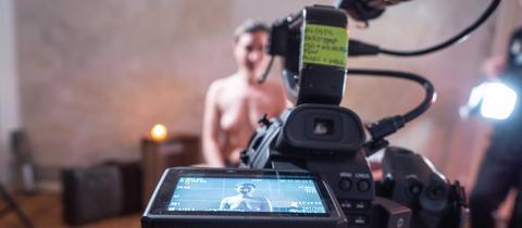 "Szenen vom Dreh des Kurzfilms ""Sex in Times of Corona"""