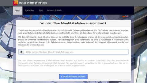Identity Leak Check beim Hasso-Plattner-Institut