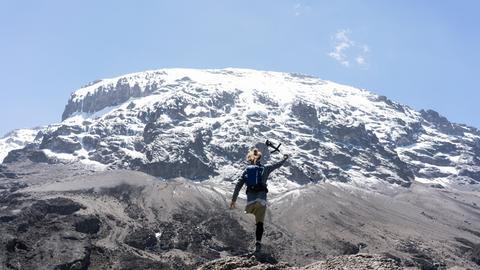 Tom Belz bei der Besteigung des Kilimandscharo