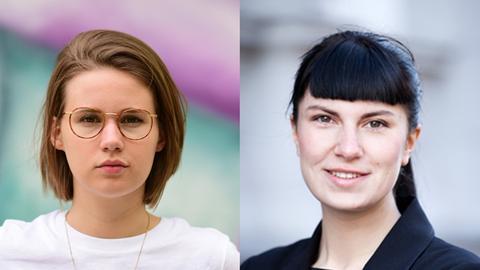 Initioatorinnen der Petition gegen Upskirting: Hanna Seidel und Ida Marie Sassenberg