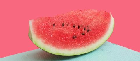 Ein Stück Wassermelone