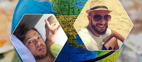 Weltreise Collage