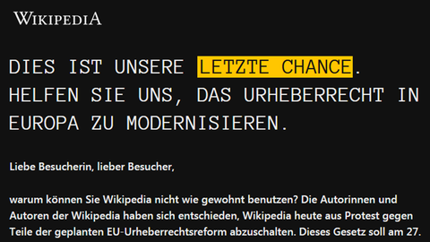 Wikipedias Protesterklärung