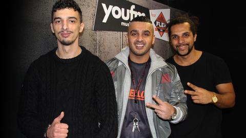 Rapper Kurdo mit Simon und Samir
