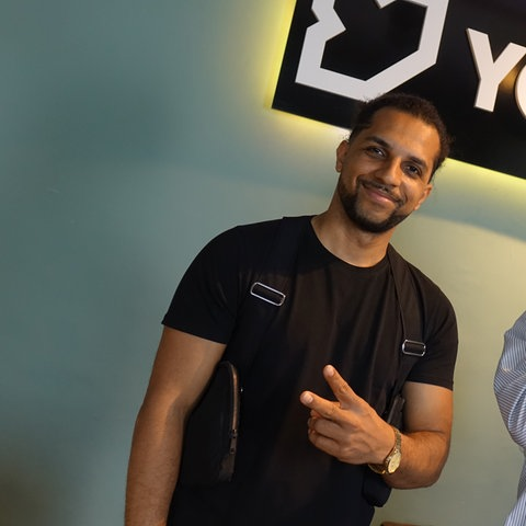 Ahzumjot zu Besuch bei Simon im YOU FM Studio