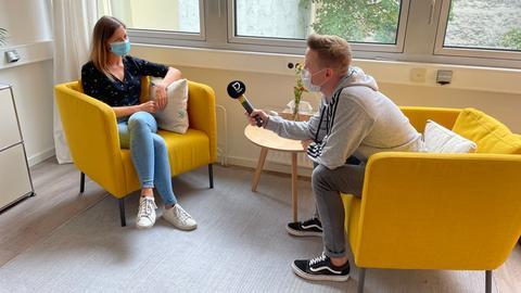 Timo und Psychologin Andrea
